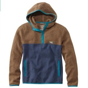 L.L. Bean sweater fleece hooded pullover